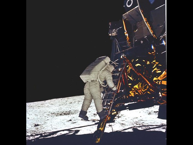 Buzz Aldrin Steps Onto Moon (NASA, July 20, 1969)