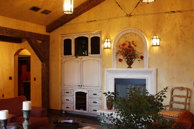 Tuscany Style Arched Fireplace Stirling Designers Work