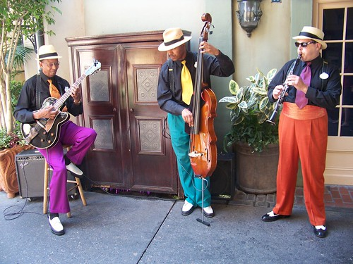 The Royal Street Bachelors perform in New Orleans Square