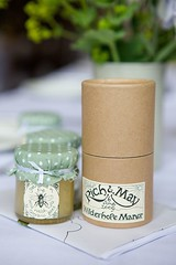 candle(0.0), mason jar(0.0), lighting(0.0), wedding favors(1.0), label(1.0),