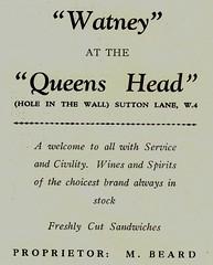 Queen's Head,Pub Chiswick