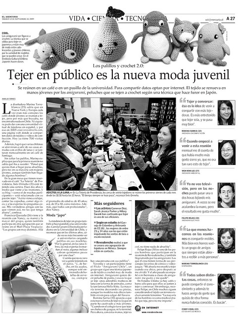 Vida, Ciencia y Tecnologia, El Mercurio 12/09/09
