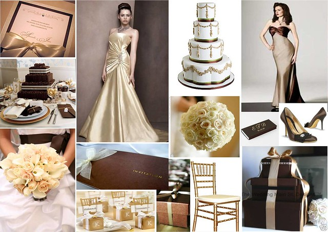 Chocolate Gold Wedding Theme Check out more inspiring ideas like this one