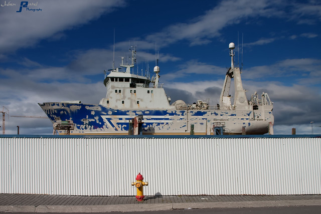 ~~ Docked fishing boat in Reykjavik harbour ~~