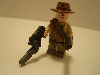 Zombie Apoc Dude with Apoc SMG, chainblade, ammo chain links, and sawn-off shotgun