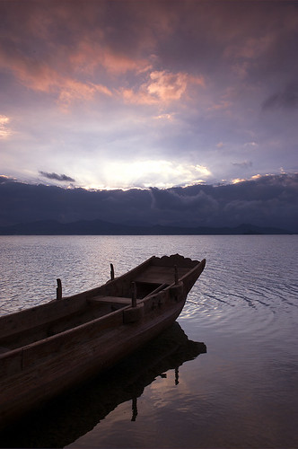 Sunrise on Lugu Lake 2