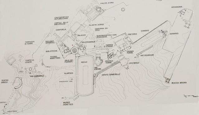 Planimetria Villa Adriana