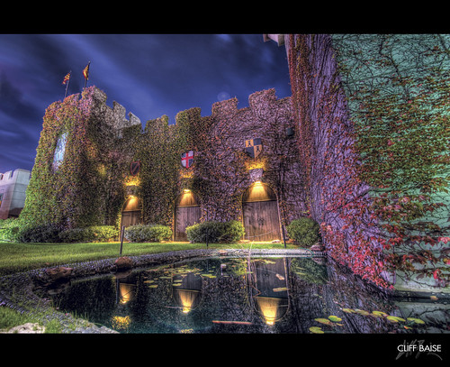 castle reflections dallas nikon fantasy medievaltimes moat magical hdr 1224 editorschoice d700 cliffbaise hdrspotting