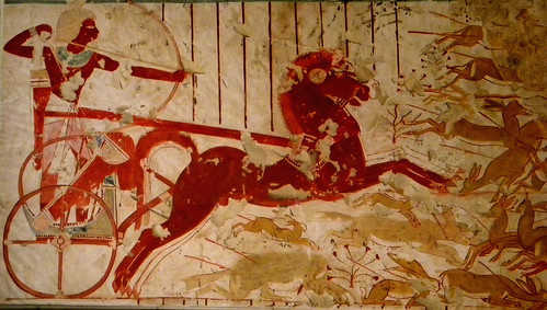 Hunting from a Chariot, Tomb of Userhat
