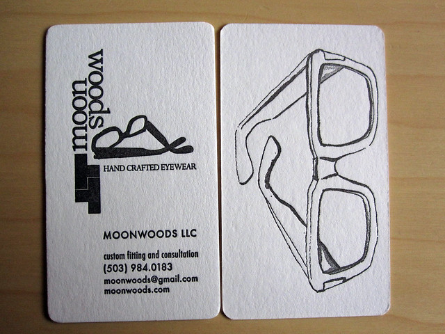moon woods business card