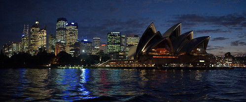 city sunset water skyline dave night lights sydney australia schreier