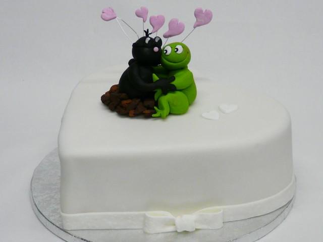 kleine Hochzeitstorte Herz Frosch liebt Maulwurf - a photo on ...