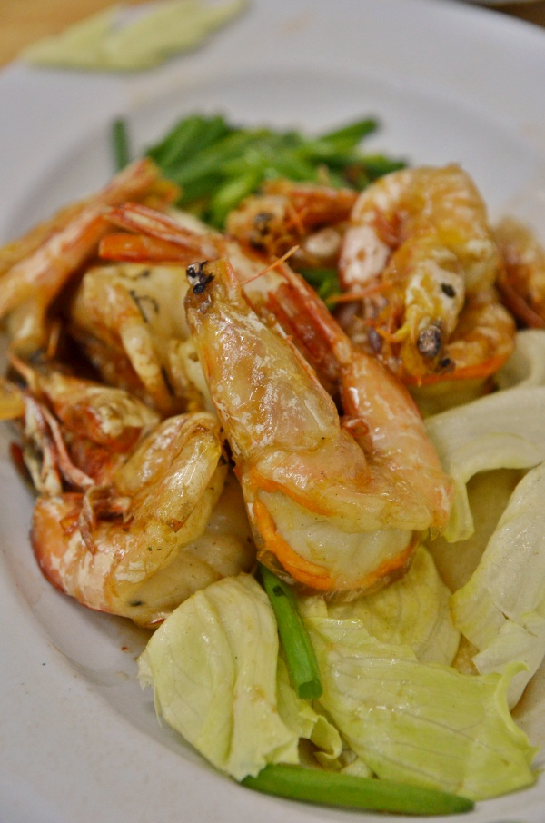 Pan Fried Soy Sauce Prawns