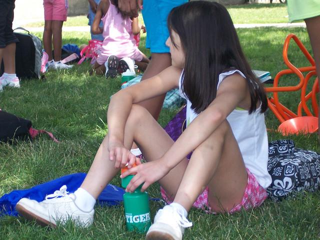 Whom can girls flashing camping