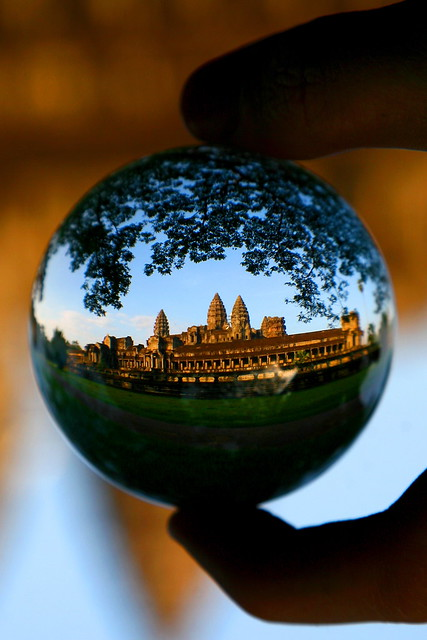 Angkor Wat in glass