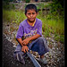Little boy with big machete, Belize