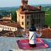 TorreBarolo - View of Castello Falletti from roof terrace