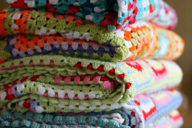 Crochet Blankets Freshly laundered crochet blankets for ou ...