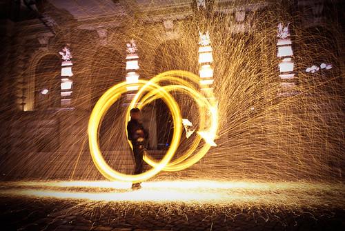 city longexposure autumn night finland fire badge tampere 2009 flamma nikond60 flickraward platinumheartaward nikonflickraward nikon1855mmvr