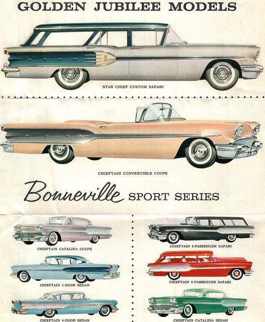 1958 Pontiac Star Chief Custom Safari Station Wagon and Chieftain Convertible