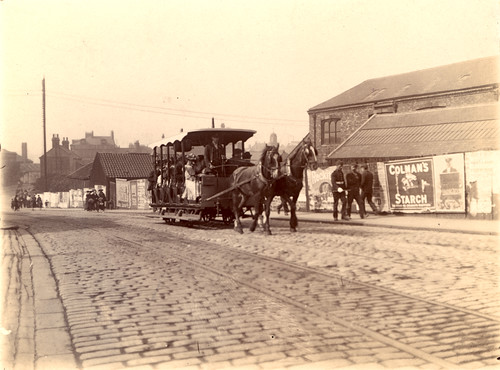 035438:Horse-drawn tram Station Road South Shields Unknown 1879