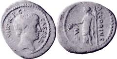 RRC 494/19 Denarius Octavian Ceres standing