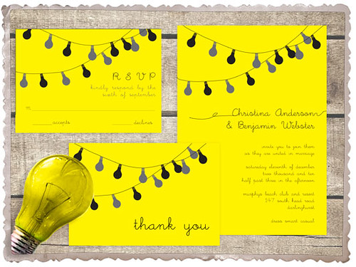 party lights invitation set