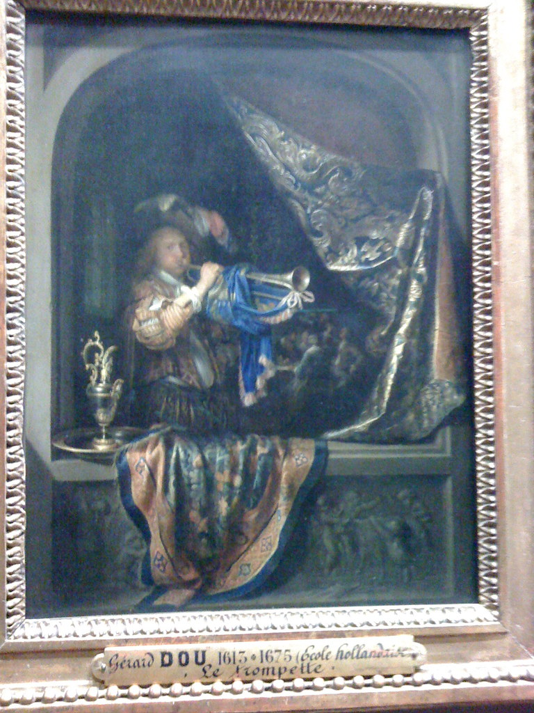 gerald dou painting at the louvre