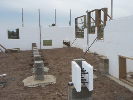 ICF, Insulated Concrete Forms.  I call them Lego's.