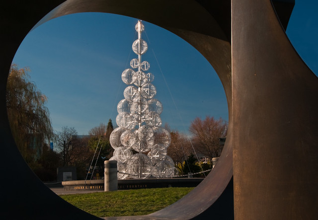 Seattle Center Sculpture and Tree