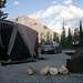 Camping at Macdonald Campground, Muncho Lake