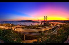 Croped of : Blazing Tsing Ma Bridge Panorama | 火 焰 青 馬 全 景