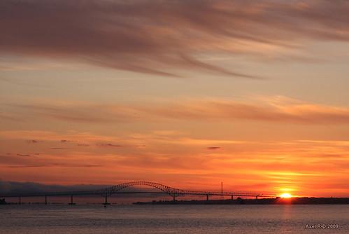 bridge canada sunrise québec pont qc leverdesoleil nicolet troisrivières fleuvestlaurent laviolette