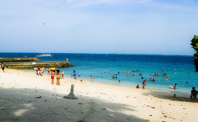the beach at Portofino Resort, Mactan