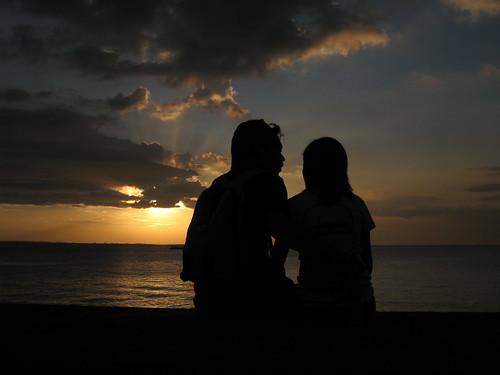 sunset silhouette philippines manila