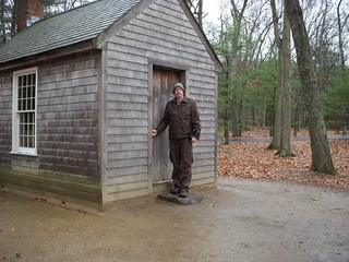 Stephen Smith at Thoreau's Cabin on Walden Pond