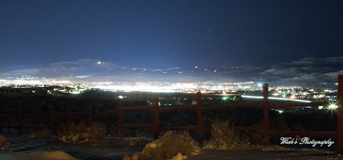 city snow night lights nevada elko
