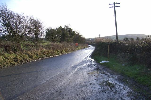 Shining road. Ireland, Jan 2007