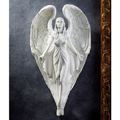 Angel Spiritual Heart Wall Frieze Sculpture Statue 16 Quot Www