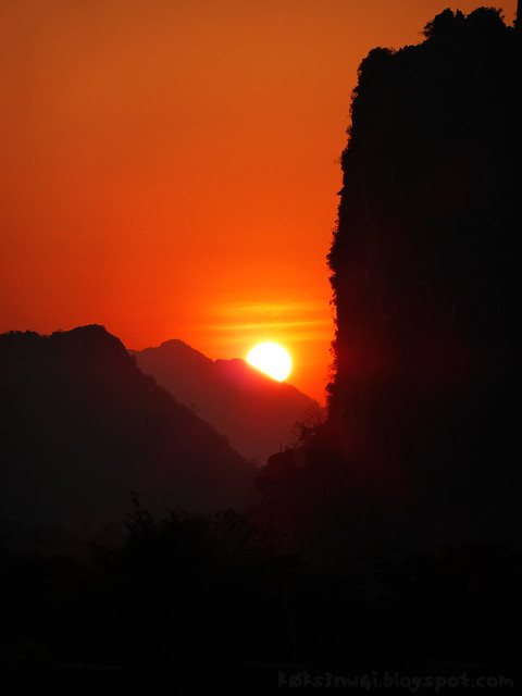 Vang Vieng Sunset from Guest House