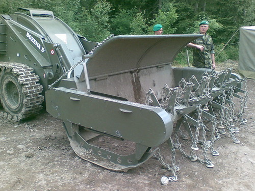 Remote control operated light mechanical mine clearance system Božena