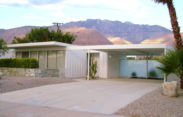 Steel Mid Century Modern House Palm Springs A Photo On