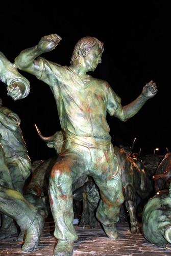 Pamplona - Monumento al Encierro by Rufino Lasaosa