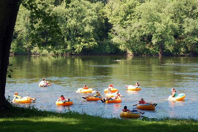 Renting tubes as a family, friends or group is a lot of fun at James River State Park
