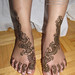 Shafaq bridal mehndi feet