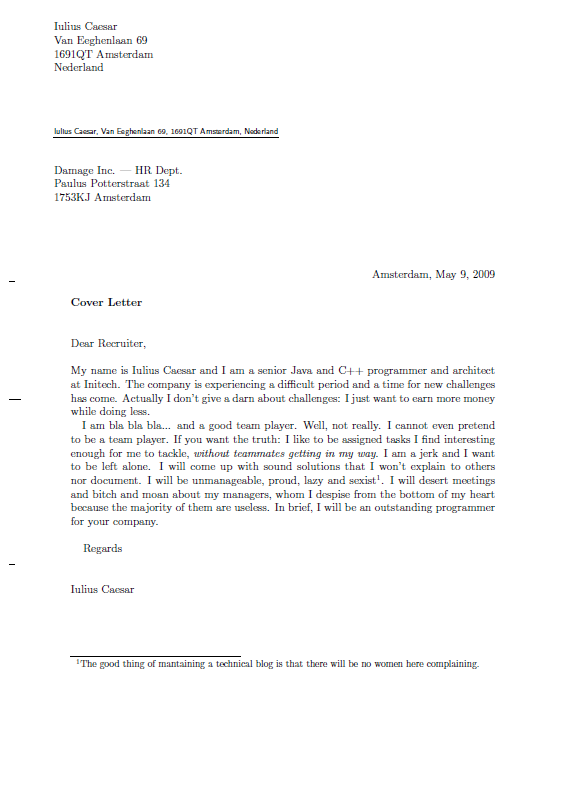 genidu how to address a cover letter