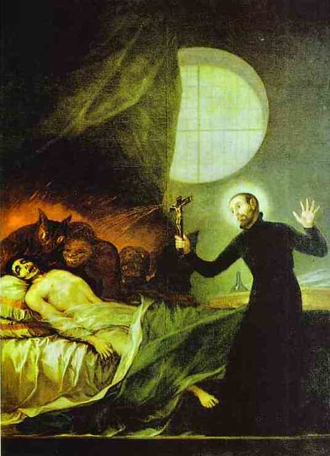 Goya, Francisco (1746-1828) - 1788 St. Francis Borgia Exorcising (Private Collection)
