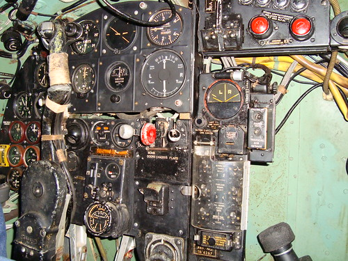 DH Mosquito cockpit shot