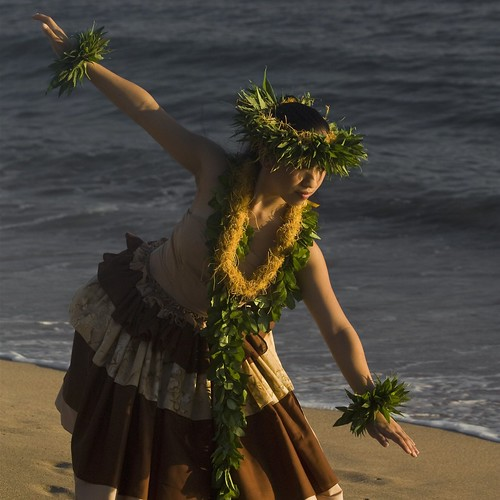 The hula performed by the light of a golden sunset is pure magic.