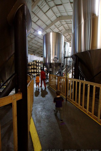walking through the brewery    MG 5782